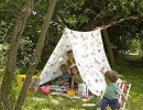 Super quick garden tent for the kids | - Tinyme Blog