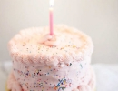 Gorgeous baby pink frosted cake | 10 Super Sprinkles Cakes - Tinyme Blog