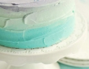 Blue ombre cake with sprinkles | 10 Super Sprinkles Cakes - Tinyme Blog