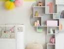 Stylish pastel Scandinavian nursery | 10 Sweet Girls Nurseries - Tinyme Blog