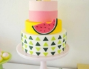 Colorful fruit cactus birthday cake | 10 Sweet Summery Cakes - Tinyme Blog