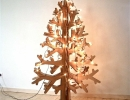 Stunning recycled brown cardboard | 10 Unusual Christmas Trees - Tinyme Blog