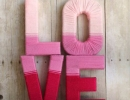 Make some romantic ombre love yarn letters | 10 Valentines Day Crafts - Tinyme Blog