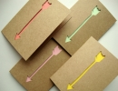 Stunning pastel arrow cards for your special someone | 10 Valentines Day Crafts - Tinyme Blog