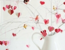 Make your own homemade whimsical valentine branch tree | 10 Valentines Day Crafts - Tinyme Blog