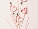Adorable valentines day party hearts and arrows straws stirrers | 10 Valentines Day Crafts - Tinyme Blog