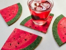 Cool Watermelon Slice Coasters | 10 Watermelon DIY's - Tinyme Blog