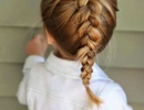 Cute Dutch braid | 10 Ways to Make Back to School Easy - Tinyme Blog