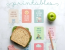 Fun lunch note printables! | 10 Ways to Make Back to School Easy - Tinyme Blog