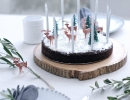 Ridiculously beautiful cake in natural wood cake plate | 10 Wintery Christmas Cakes - Tinyme Blog