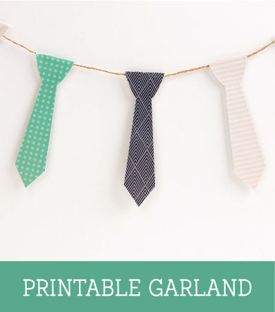 FREE Fathers Day Printable Garland ~ Tinyme