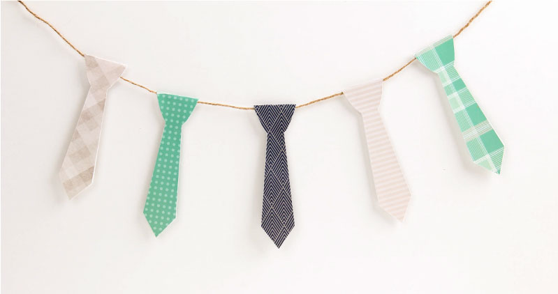 Free Fathers Day Printable Tie Garland | Tinyme Blog