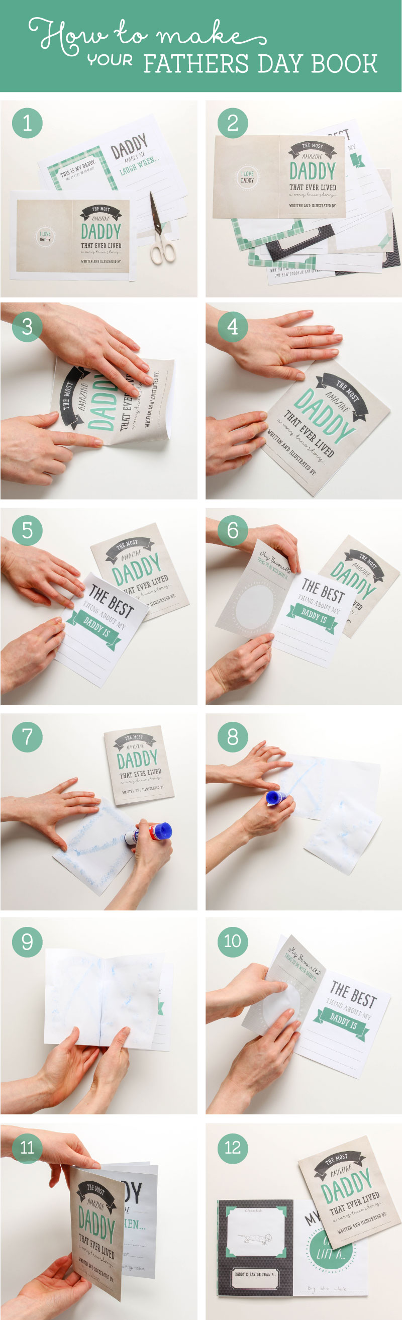 How to make your Free Fathers Day Printable Book | Tinyme Blog
