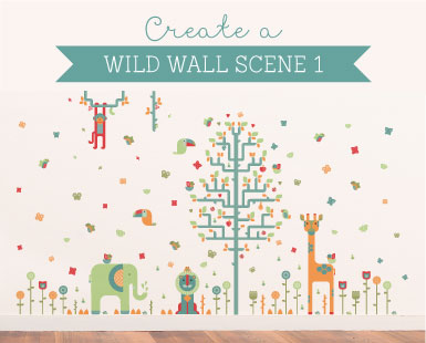 Geo Wall Stickers How to... Wild Wall Scene 1 ~ Tinyme