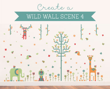 Geo Wall Stickers How to... Wild Wall Scene 4 ~ Tinyme