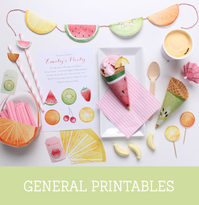 'Feeling Fruity' Free Printables | Tinyme Blog