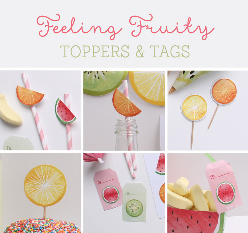 Feeling Fruity Free Printable Party Toppers & Tags