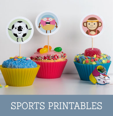 Free Printable 'Sporty' Cupcake Toppers | Tinyme Blog