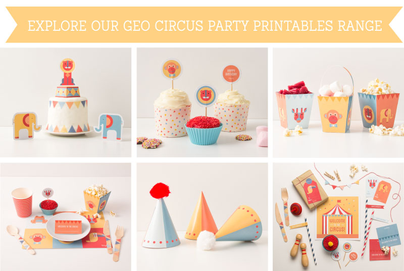 Explore the Geo Circus Party  Printables Range | Tinyme Blog