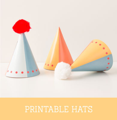 Printable Geo Circus Party Hats | Tinyme Blog