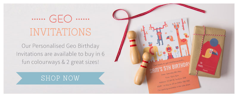 Geo Personalised Party Invitations ~ Tinyme