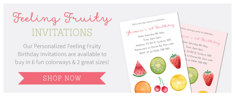 Shop the matching Feeling Fruity Perosnalized Invitations | Tinyme