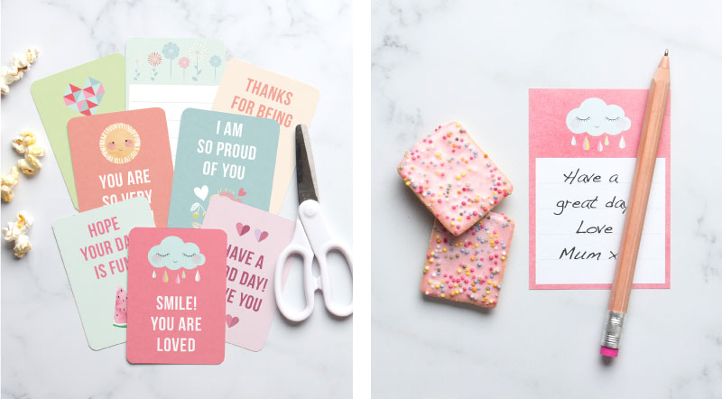 Free Printable Lunch Notes ~ Tinyme