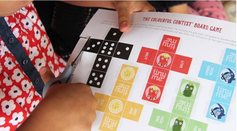 Colourful Contest Board Game Printable