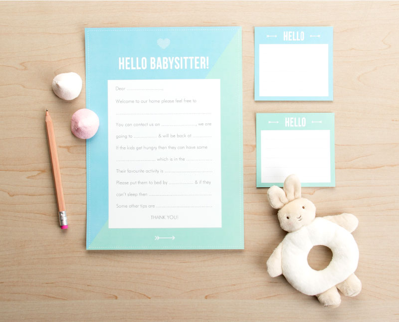Babysitter Note Printable