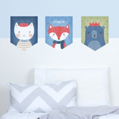 Animals Wall Banner Decal Set