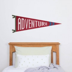 Adventure Pennant Decal