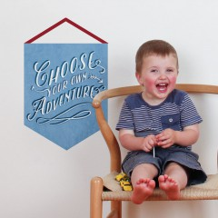 Adventure Quote Banner Decal