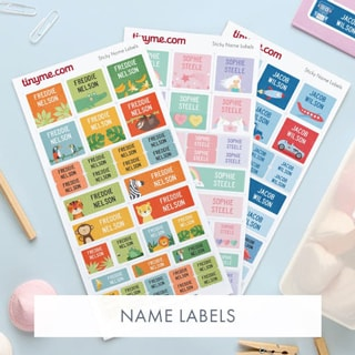 Tinyme Personalized Name Labels