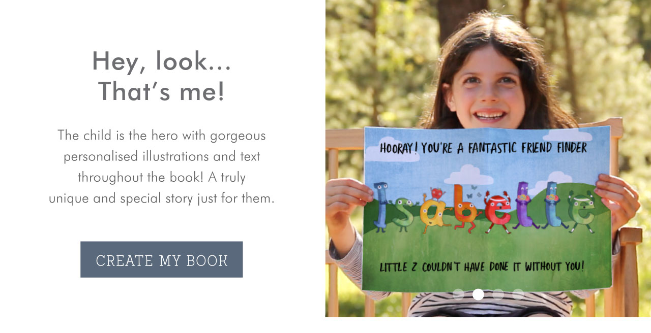 The child is the hero with gorgeous personalized illustrations and text throughout the book