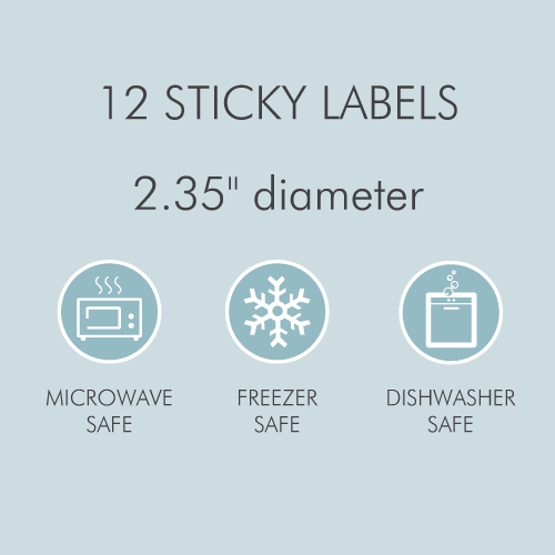 Tinyme Large Round Name Labels