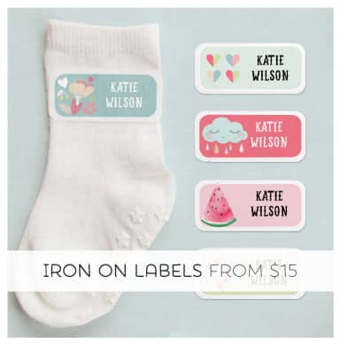 Super Cute Iron-on Clothing Labels