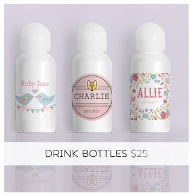 Personalized Water Bottle... A bag's best friend!