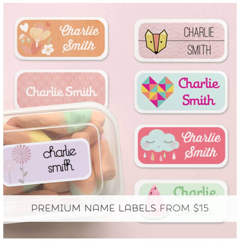 Label it and Keep it with Tinyme Sticky and Iron-on Name Labels