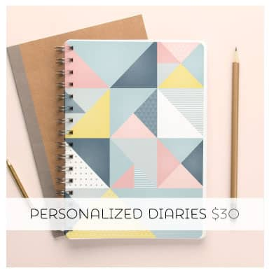 Get organised in style with a Personalized Diary