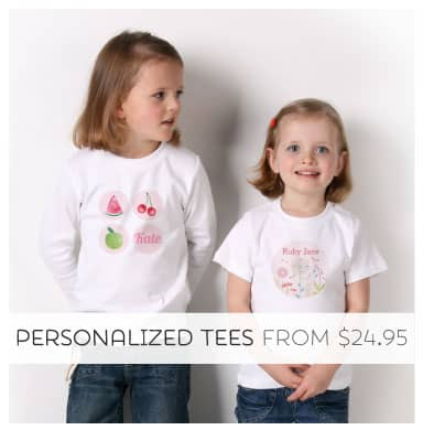 Shop Personalized Tees from Tinyme