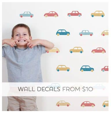 Removable Fabric Wall Decals for Boys