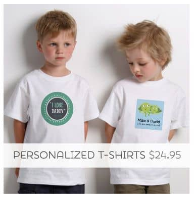 Don't just say it, wear it with our Personalized Tees!