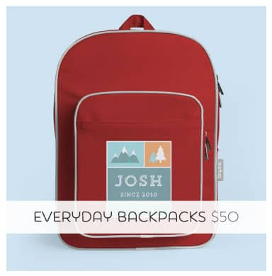 Personalized Large Backpacks make a great gift!