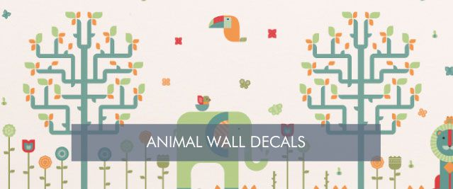 Animal Wall Decals from Tinyme