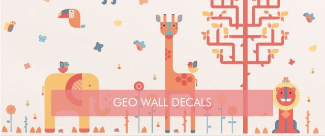 Geometric Wall Decals from Tinyme