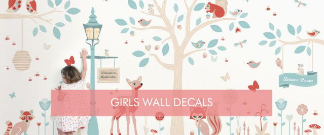 Girls Wall Decals from Tinyme