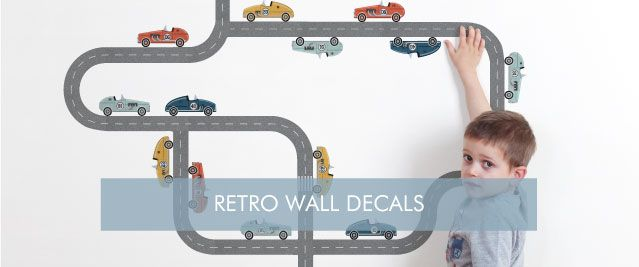 Retro Wall Decals from Tinyme
